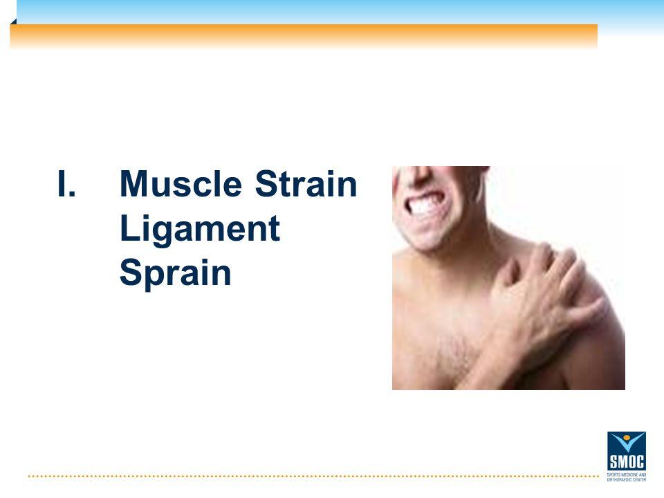 I.Muscle Strain Ligament Sprain