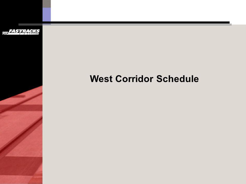 West Corridor Schedule