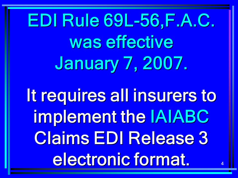135 Therefore, if a claim administrator implements R3 EDI for different clients at different times, the subsequent clients will not be granted a separate 30 day late filing penalty waiver.