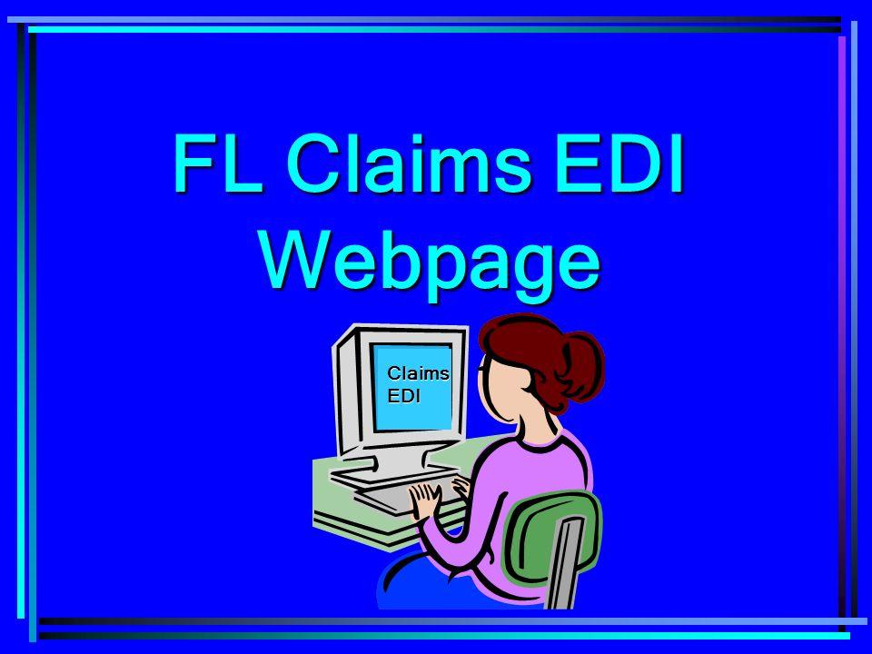 FL Claims EDI Webpage Claims EDI