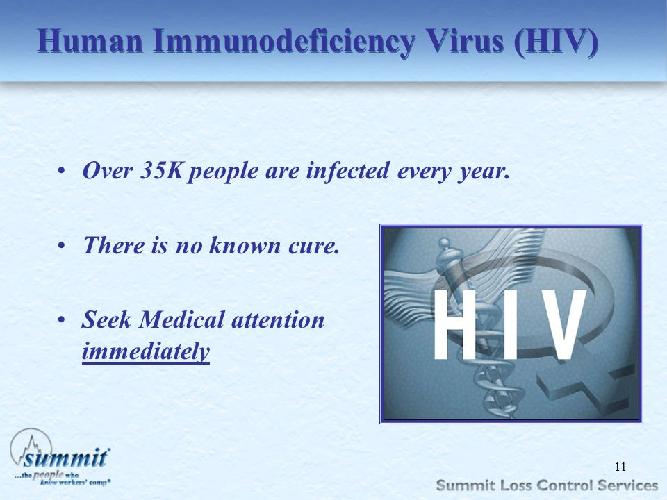 Click to edit Master text styles –Second level Third level –Fourth level »Fifth level Human Immunodeficiency Virus (HIV) Over 35K people are infected