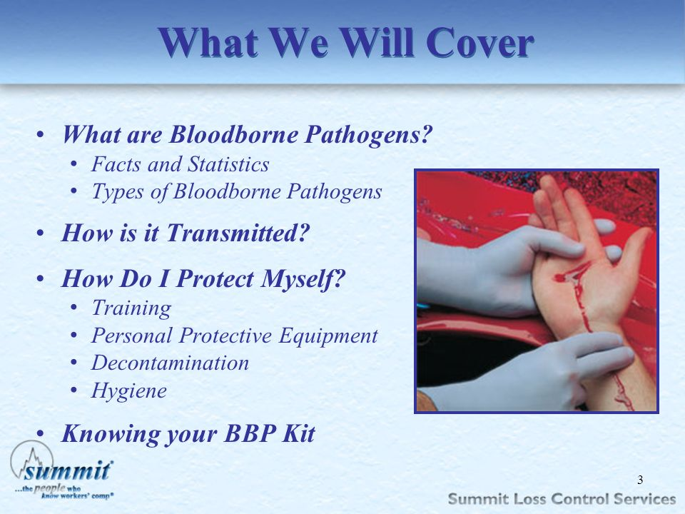Click to edit Master text styles –Second level Third level –Fourth level »Fifth level What We Will Cover What are Bloodborne Pathogens? Facts and Stat