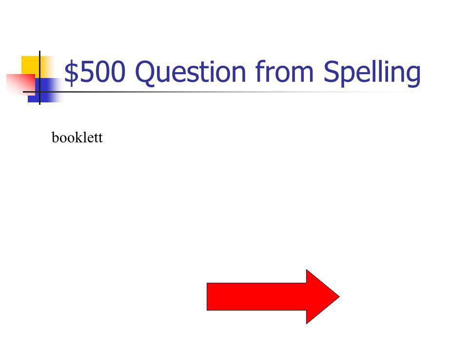 $400 Answer from Spelling What is hydrophobia?