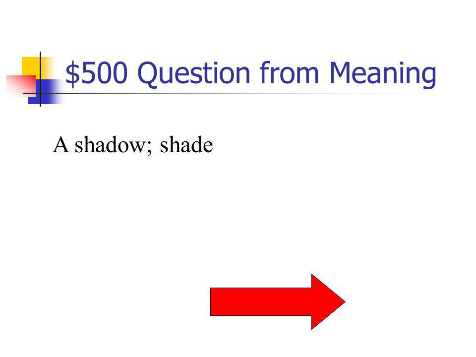 $400 Answer from Meaning What is hydro?