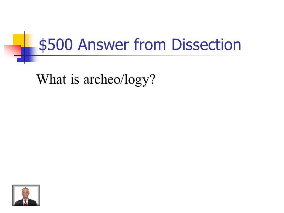 $500 Question from Dissection archeology