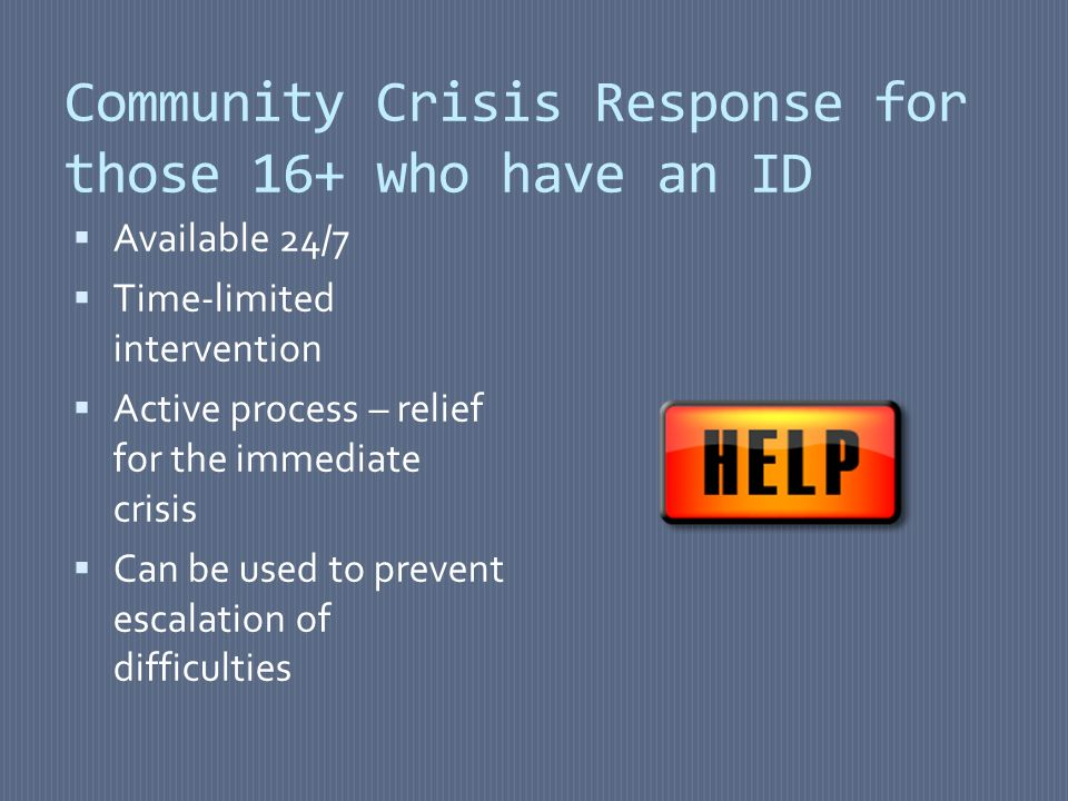 What did we want to know.Who uses crisis response for people with intellectual disabilities.
