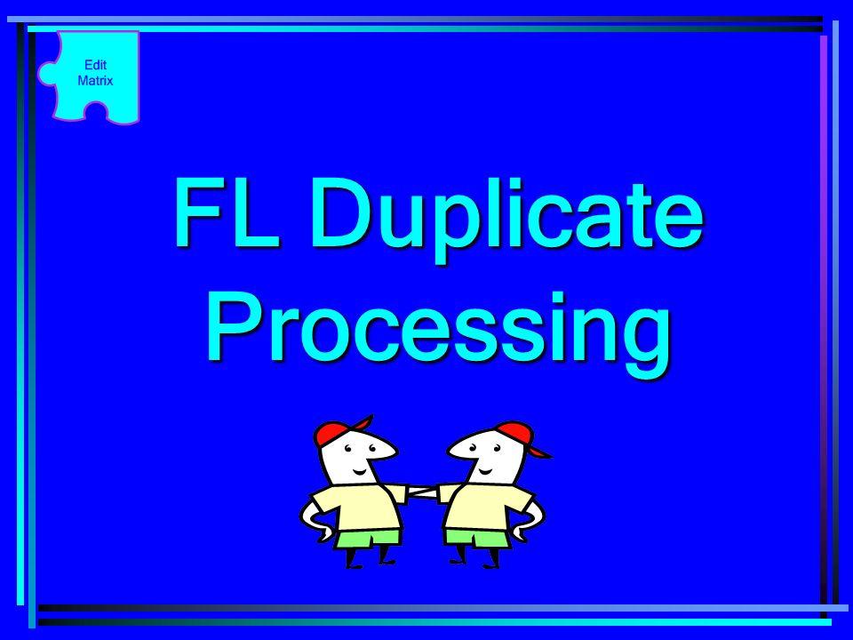 FL Duplicate Processing
