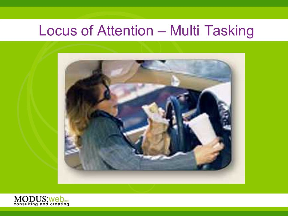 Locus of Attention – Multi Tasking