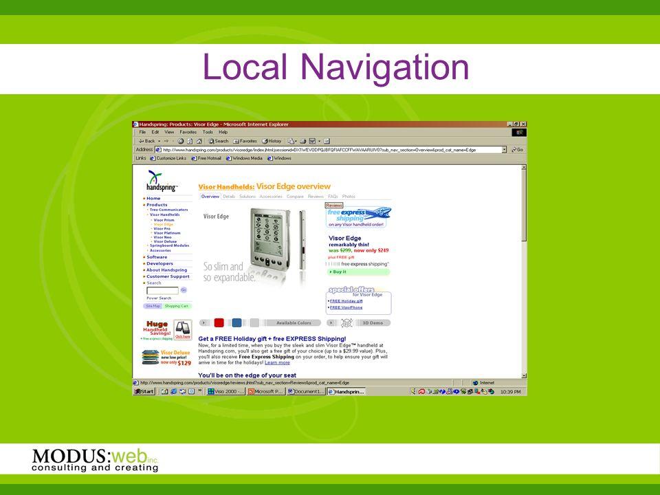Local Navigation