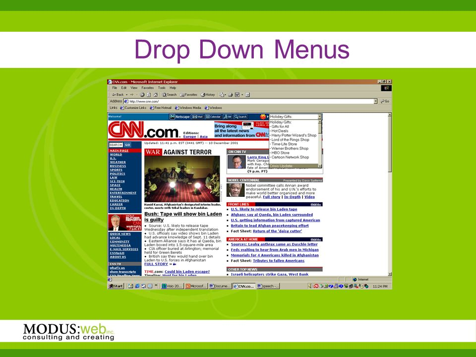Drop Down Menus