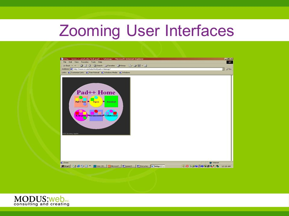 Zooming User Interfaces