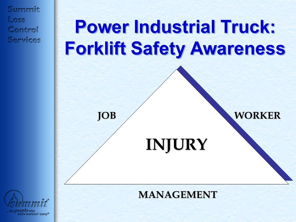 Power Industrial Truck: Forklift Safety Awareness JOBWORKER MANAGEMENT INJURY