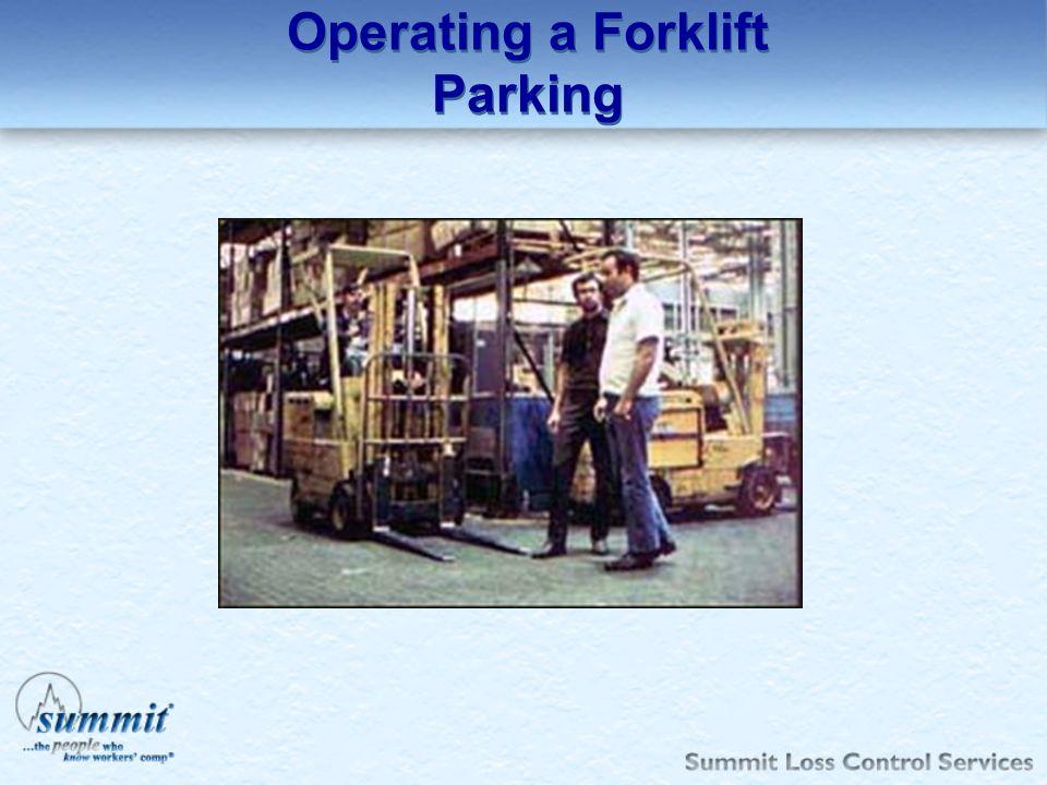 Operating a Forklift Parking