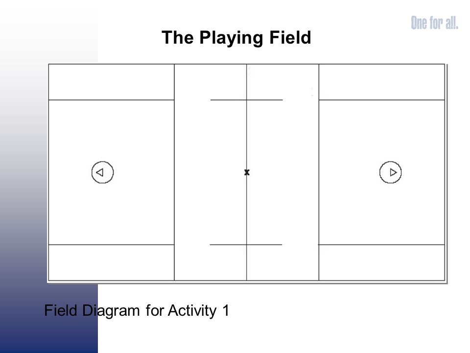 The Playing Field Field Diagram for Activity 1