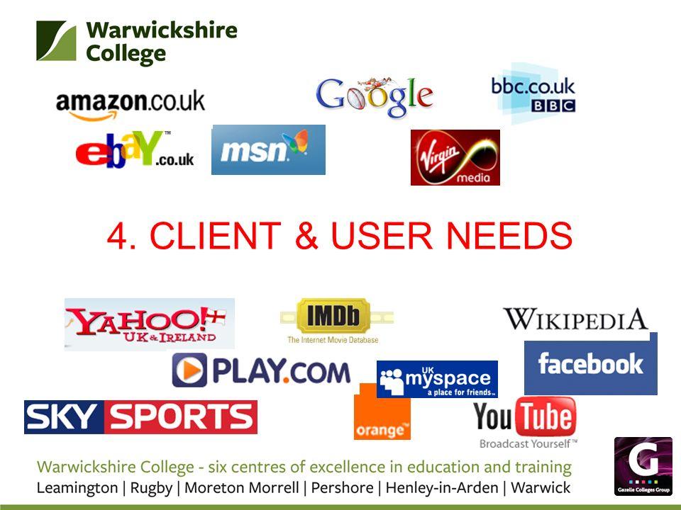 4. CLIENT & USER NEEDS