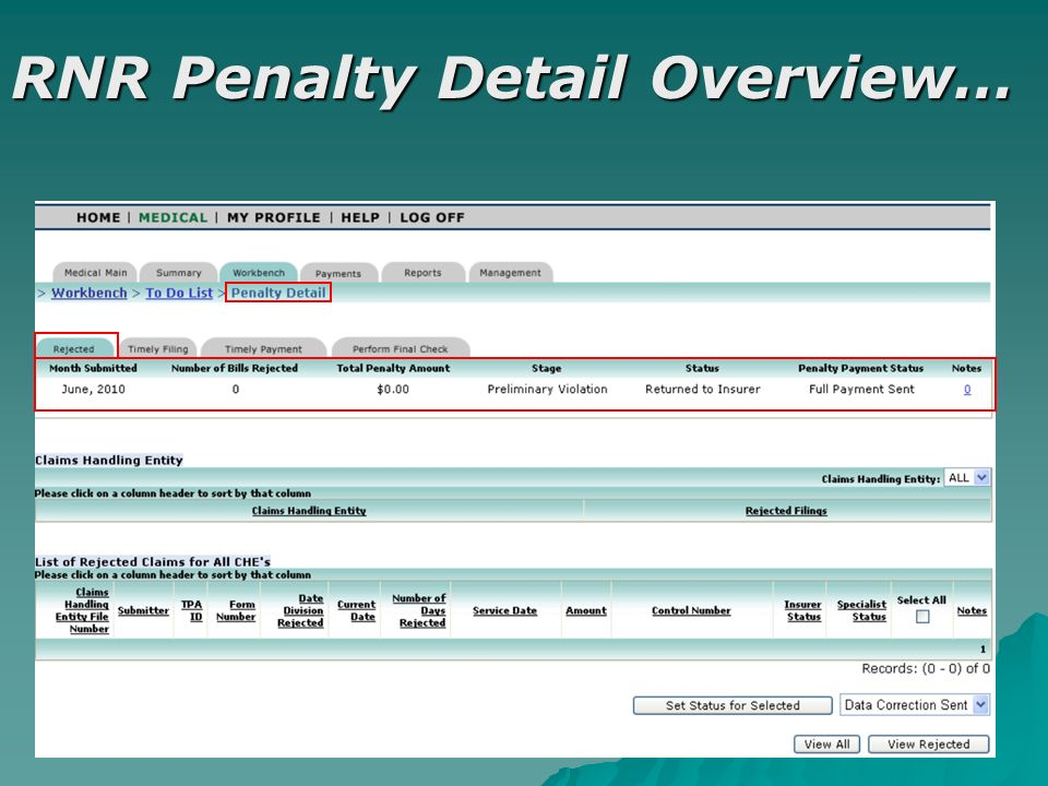 RNR Penalty Detail Overview…