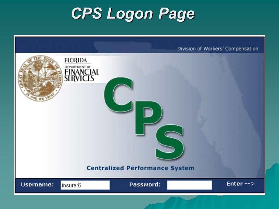 CPS Logon Page