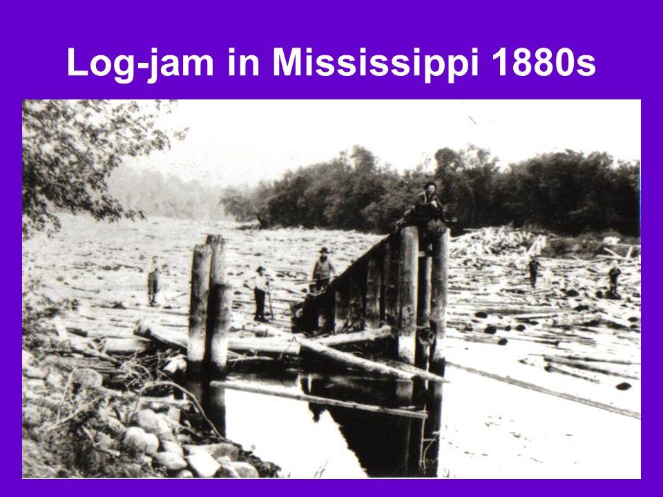 Log-jam in Mississippi 1880s