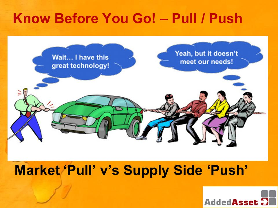 Know Before You Go! – Pull / Push Market Pull vs Supply Side Push