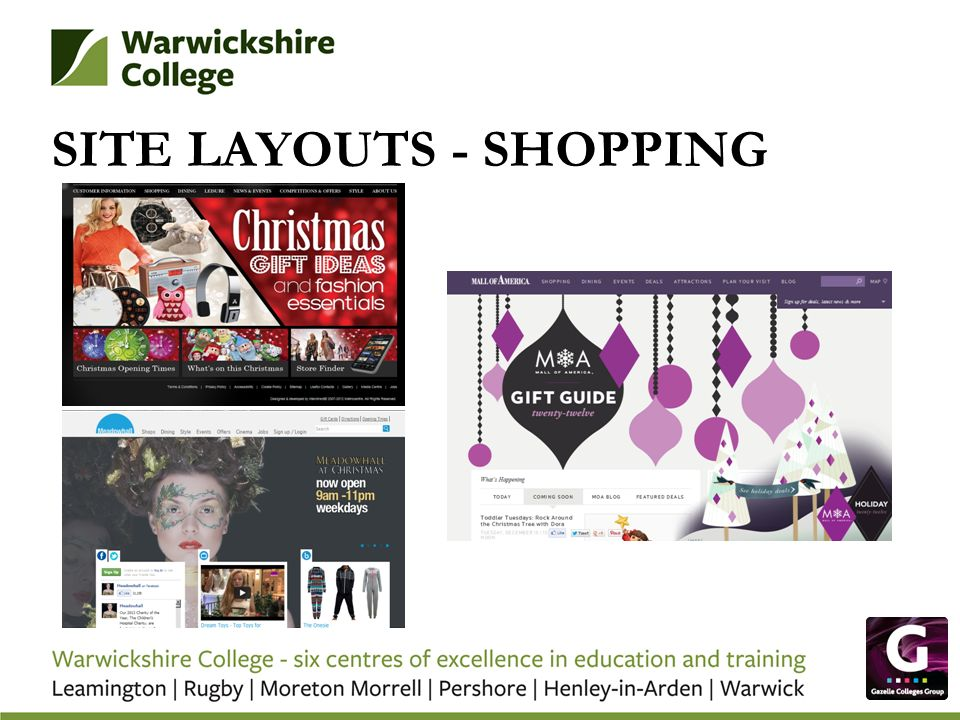 SITE LAYOUTS - SHOPPING