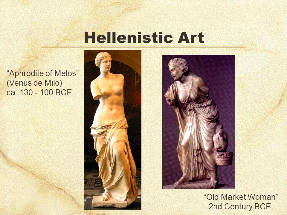 Hellenistic Art Old Market Woman 2nd Century BCE Aphrodite of Melos (Venus de Milo) ca. 130 - 100 BCE
