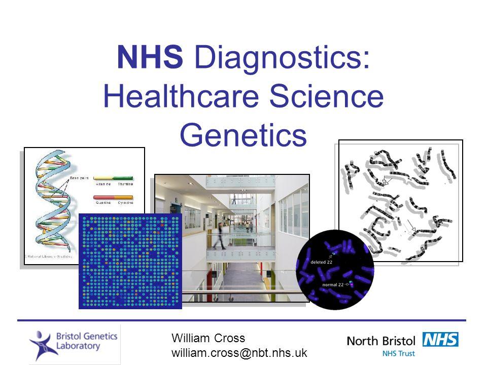 William Cross william.cross@nbt.nhs.uk NHS Diagnostics: Healthcare Science Genetics