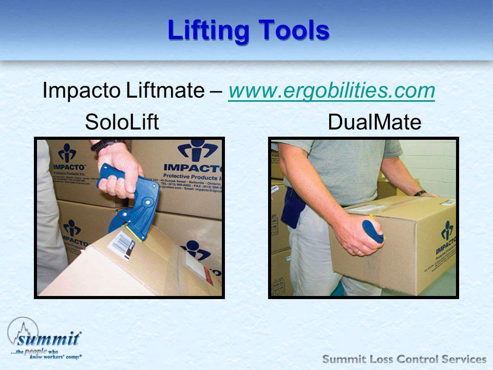 Lifting Tools Impacto Liftmate – www.ergobilities.comwww.ergobilities.com SoloLift DualMate