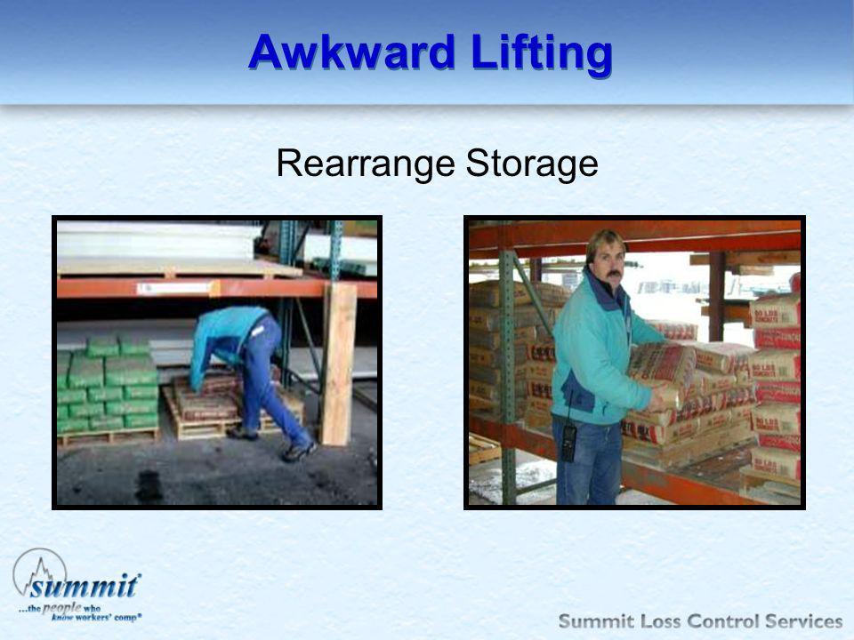 Awkward Lifting Rearrange Storage