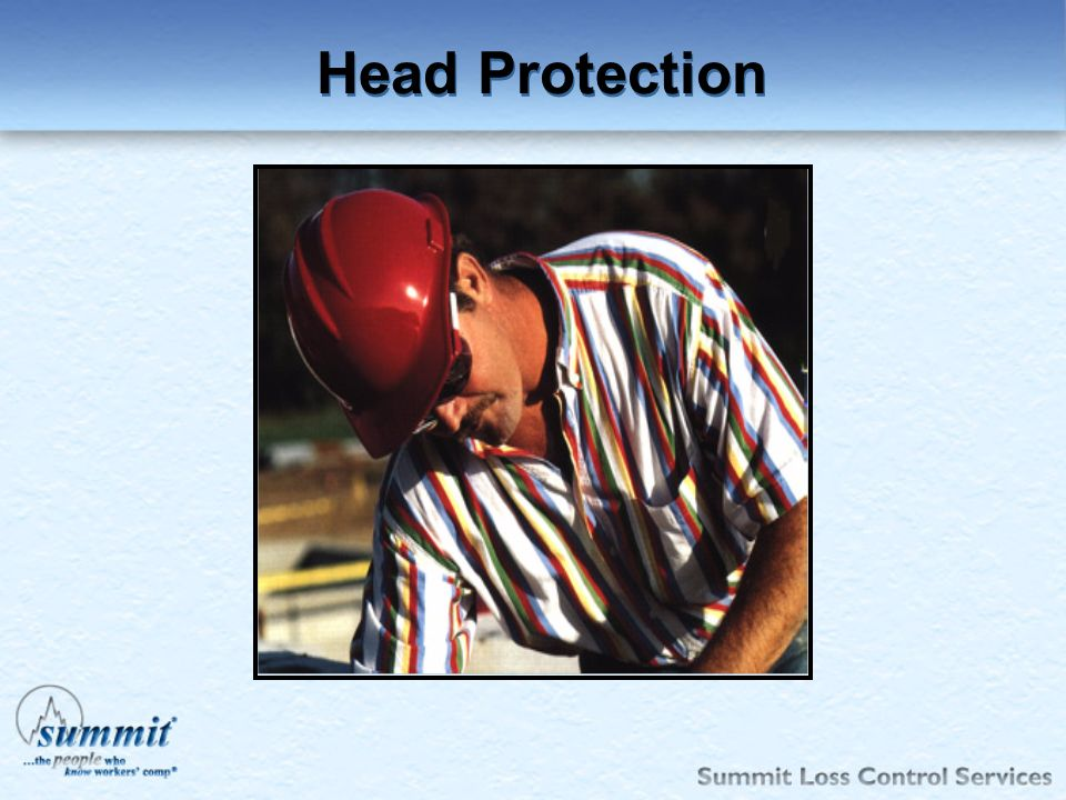 Click to edit Master text styles –Second level Third level –Fourth level »Fifth level Head Protection