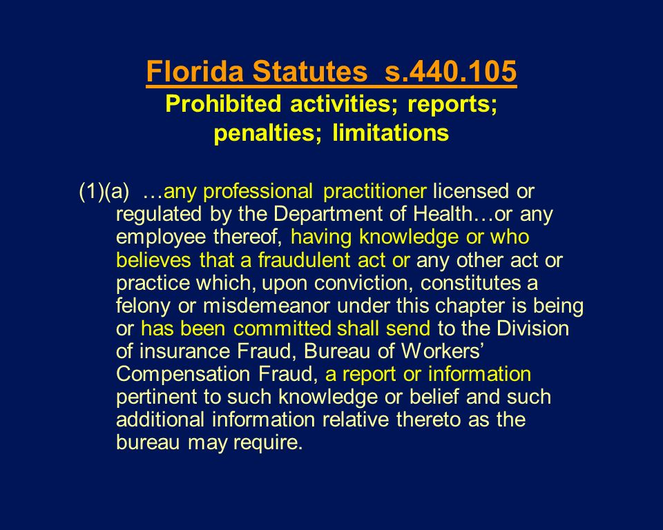(1)(a) …any professional practitioner licensed or regulated by the Department of Health…or any employee thereof, having knowledge or who believes that