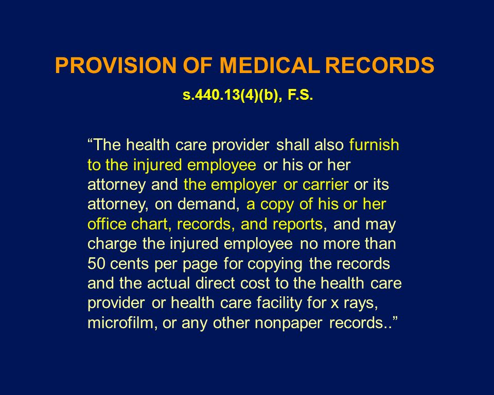 The health care provider shall also furnish to the injured employee or his or her attorney and the employer or carrier or its attorney, on demand, a c