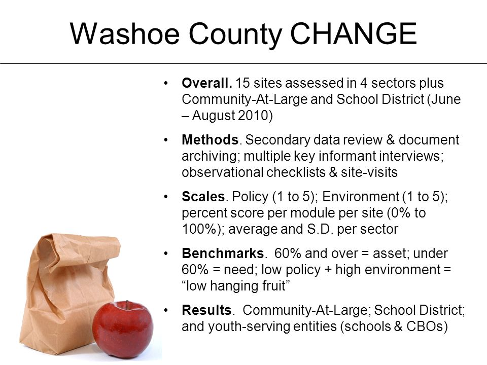 Washoe County CHANGE Overall.