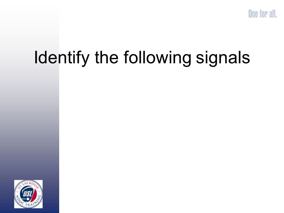Identify the following signals
