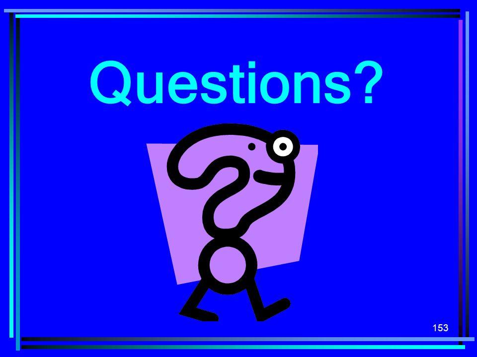 153 Questions?