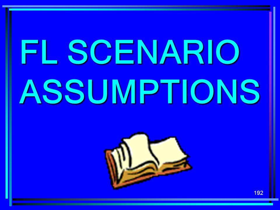 192 FL SCENARIO ASSUMPTIONS