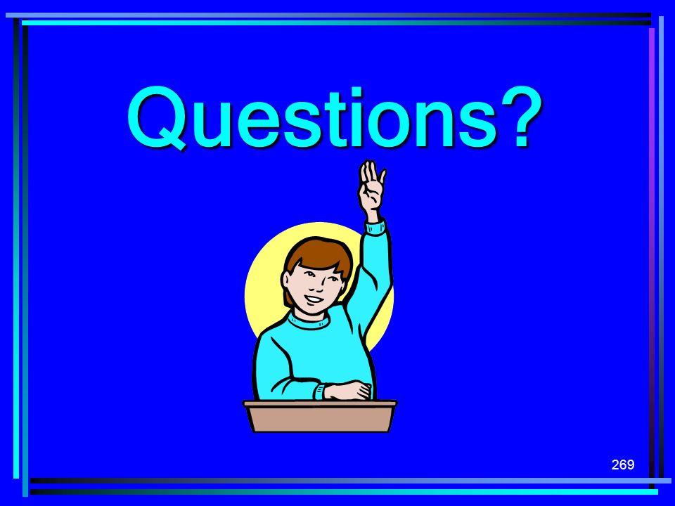269 Questions?