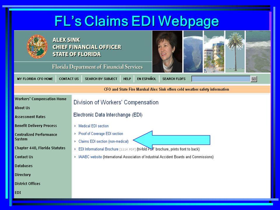 40 FLs Claims EDI Webpage