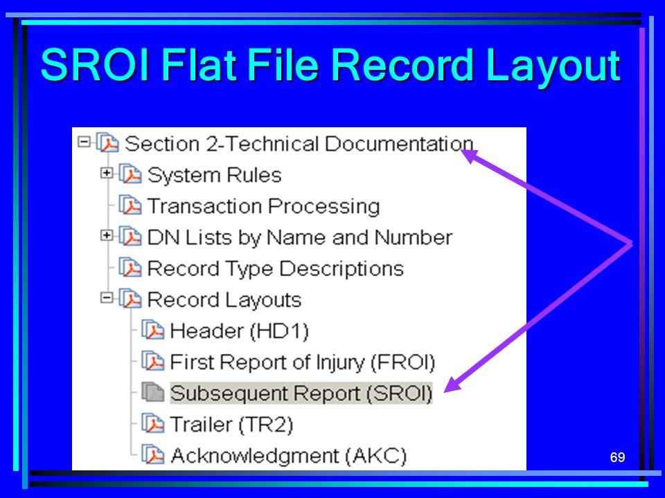69 SROI Flat File Record Layout