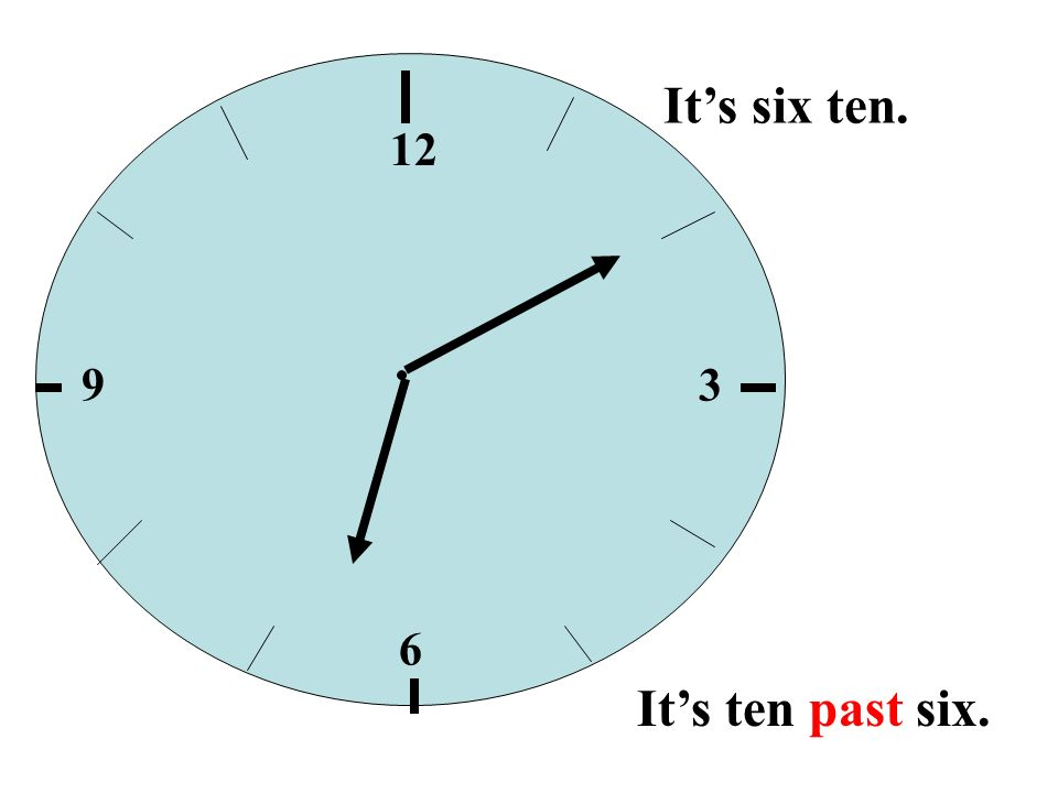 12 39 6 Its half past six. Its six thirty. 6:30