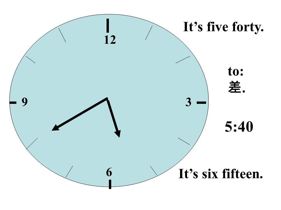 12 39 6 Its six fifteen. Its fifteen past six. Its a quarter past six. a quarter, 6:15