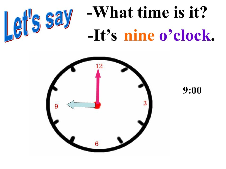 -Its seven oclock. -What time is it? 7:00
