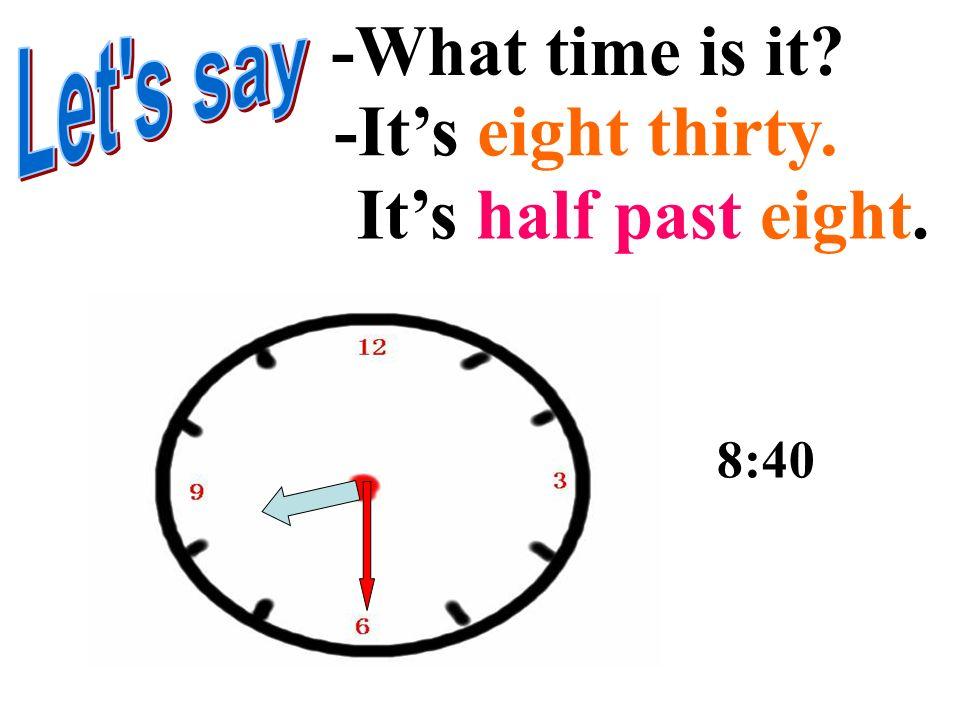 -What time is it? -Its six twenty. Its twenty past six. 6:20