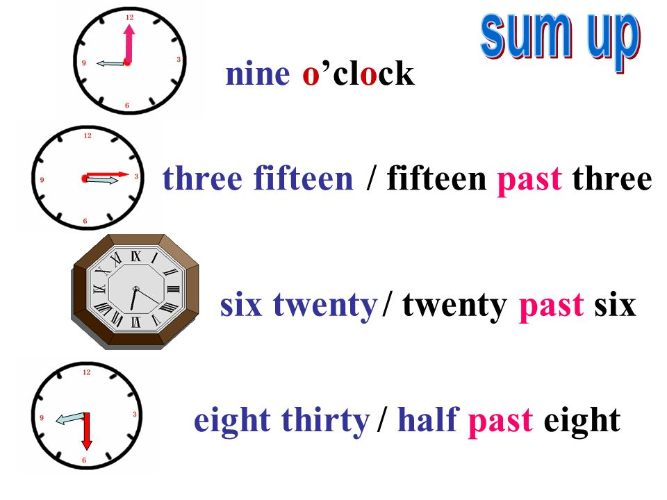 -Its eight thirty. -What time is it? Its half past eight. 8:40