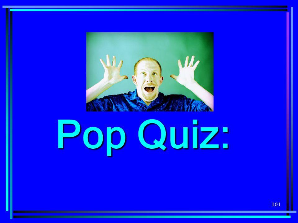 101 Pop Quiz: