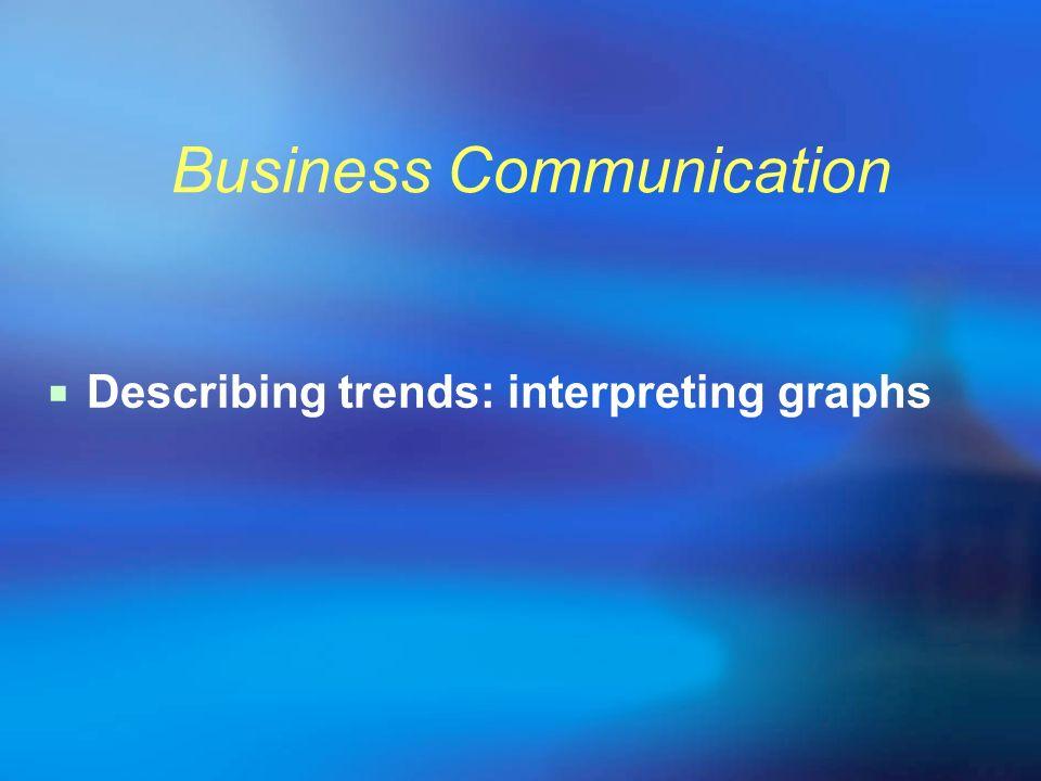Business Communication Describing trends: interpreting graphs