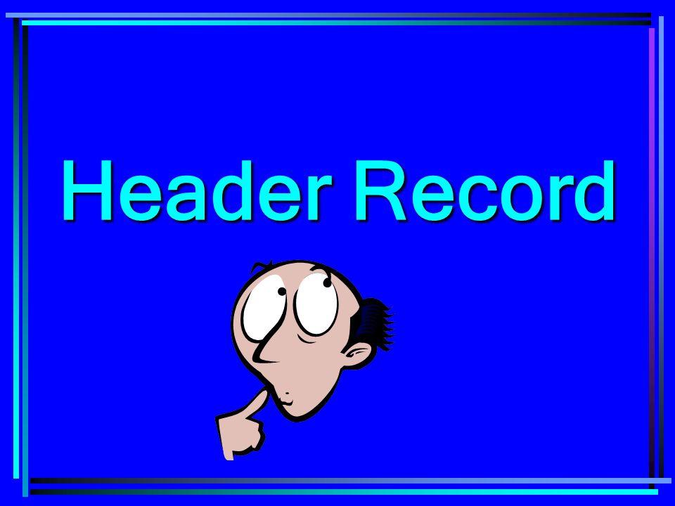 Header Record