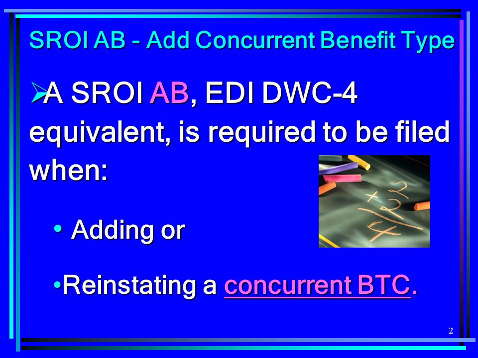 53 Caveats and Tips for Filing SROI P7 We dont see many errors for this SROI (probably because it is not filed that often), but the following occurs the most frequent: We dont see many errors for this SROI (probably because it is not filed that often), but the following occurs the most frequent: BTC MUST = 020 OR 021 IF MTC = AB OR P7 If you receive this error, either … If you receive this error, either …