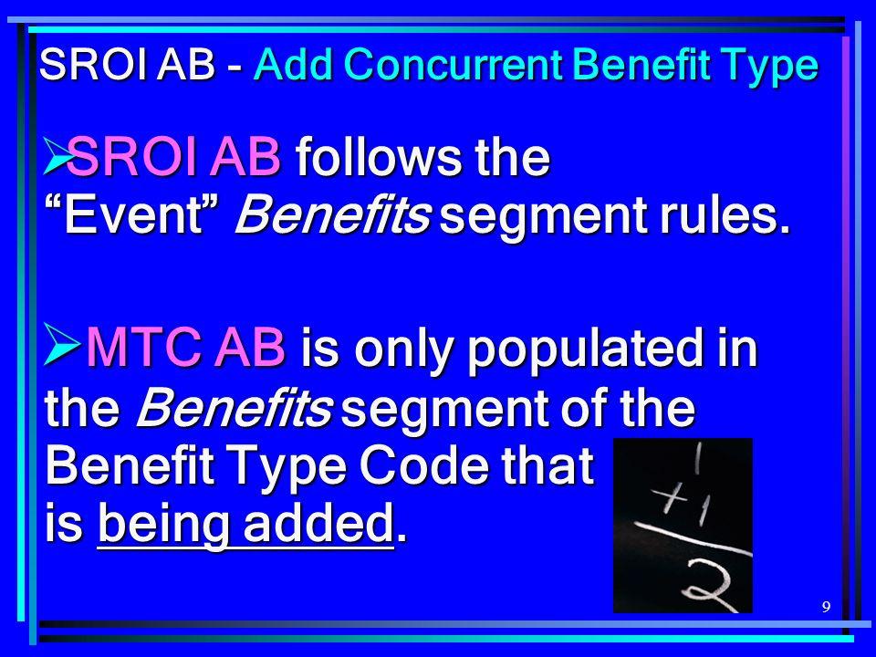140 BTC 030 Benefits Segment SROI MTC PY Scenario 0