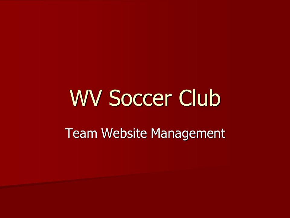 WV Soccer Club Team Website Management
