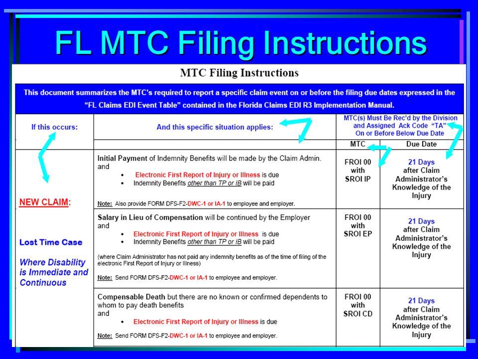 30 FL MTC Filing Instructions FL MTC Filing Instructions
